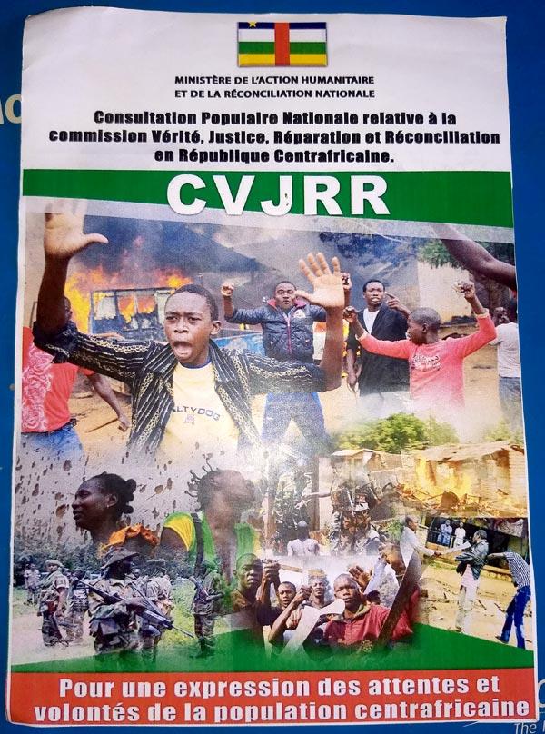 Affiche CVJRR (Commission vérité) en Centrafrique