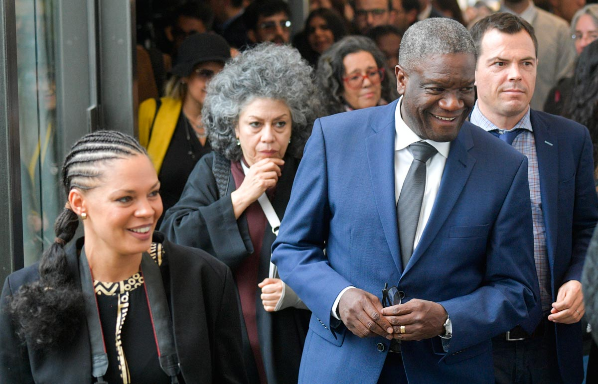 Denis Mukwege and Doris Salcedo in Colombia