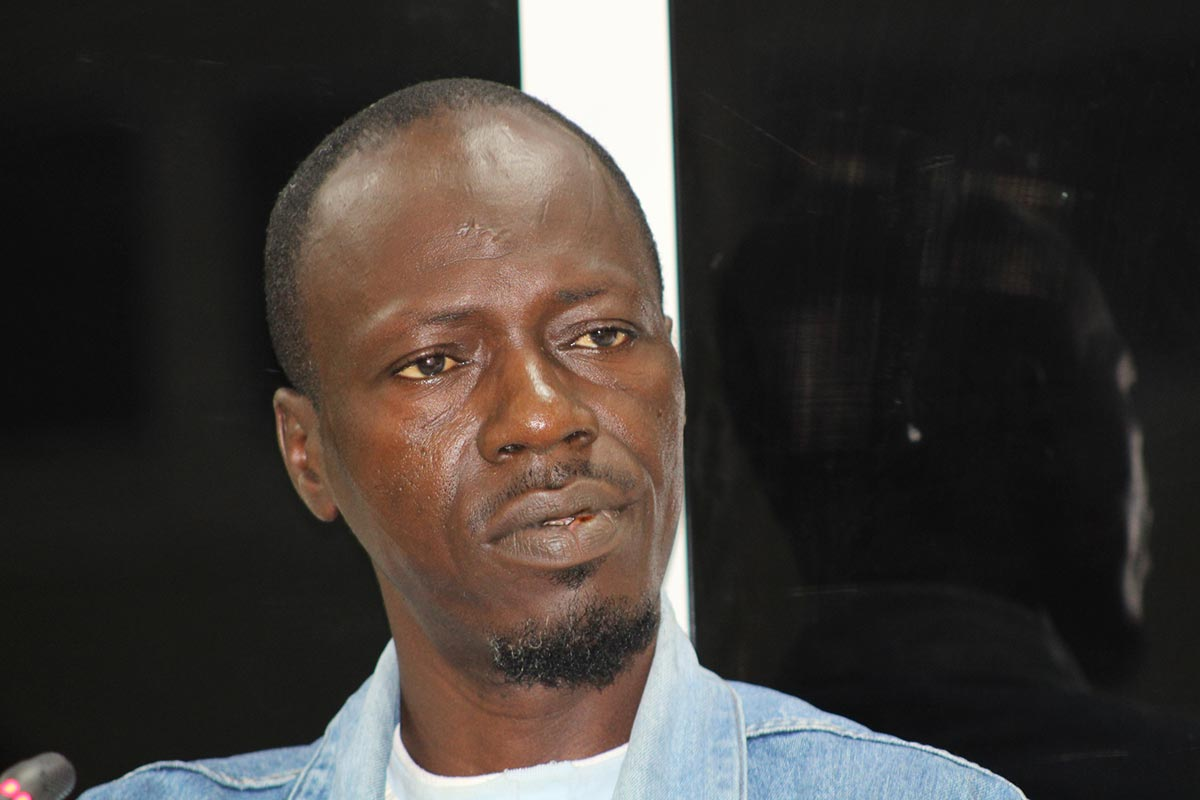 Soriba Conde testifies before the Truth commission (TRRC) in Gambia