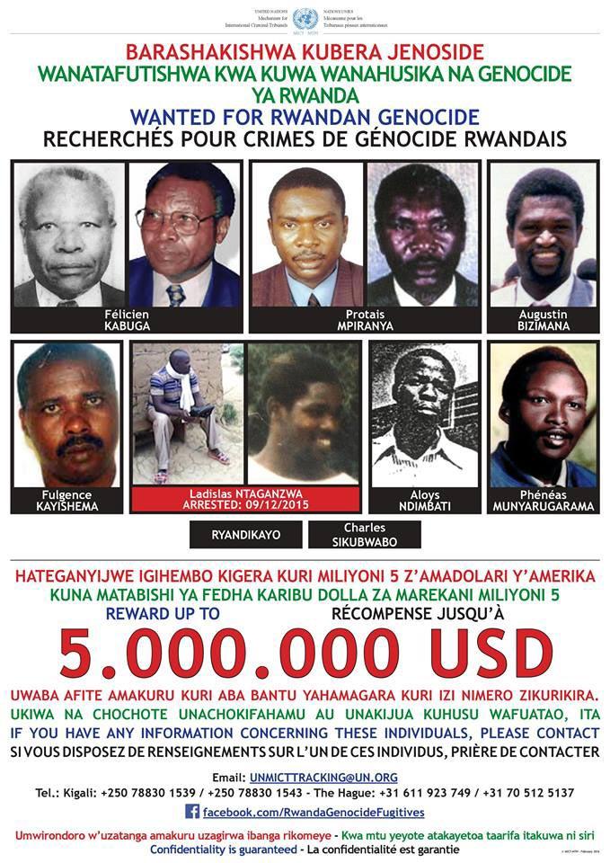Rwandan genocide fugitives wanted by the International Criminal Tribunal for Rwanda mechanism