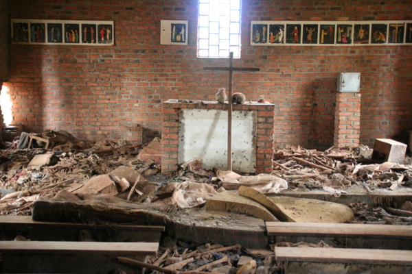 Church in Ntarama, Rwanda, where 5,000 people were massacred