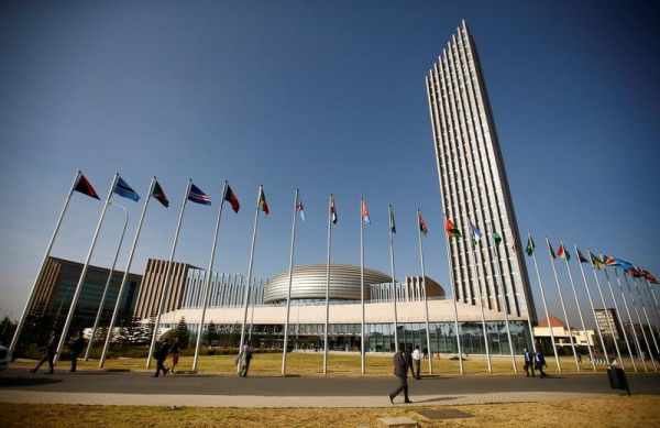 A general view shows the headquarters of the African Union (AU) building in Ethiopia's capital Addis Ababa, January 29, 2017.