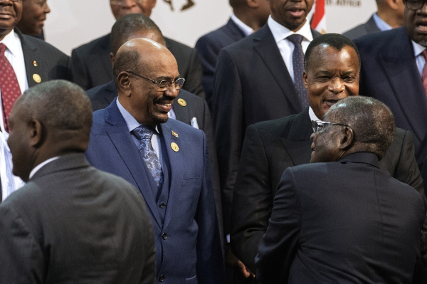 Sudanese President Omar Al Bashir, wanted by the ICC, at the African Union summit in South Africa, 14 June 2015