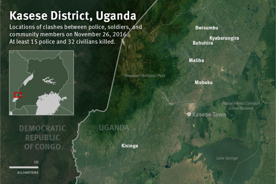 Kasese district map JusticeInfonet HRW Ensure