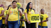 In July 2019, in Cartagena, a first ceremony in honour of victims of sexual violence is organized by the Truth Commission of Colombia. © Comision de la Verdad