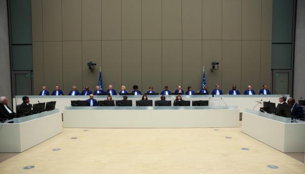 Prestation de serment des six juges récemment élus à la Cour pénale internationale (CPI) le 9 mars 2018