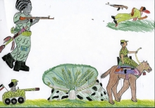 Children's drawings as evidence of war crimes