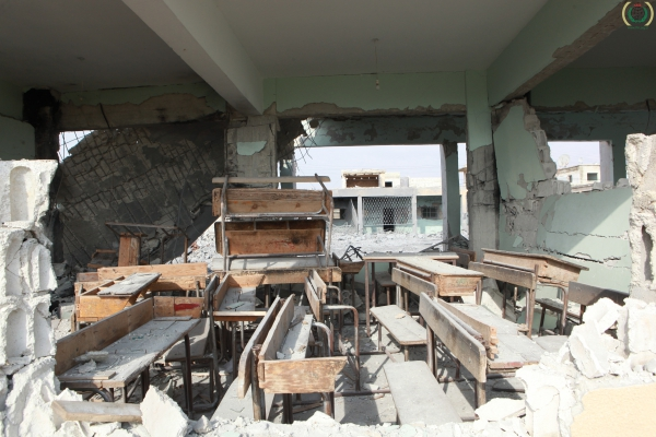 Destruction of school in Syrie