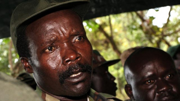 LRA leader Joseph Kony (wearing hat) is wanted by the International Criminal Court