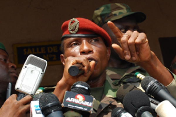 Moussa Dadis Camara, head of the military junta in power at the time of the massacre