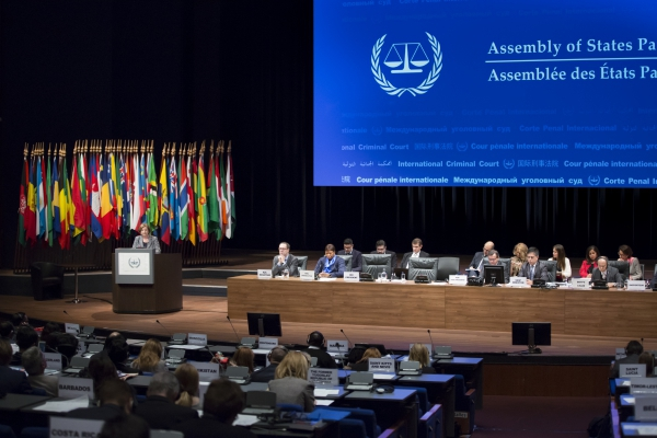 ICC presents its report to the 15th Assembly of States Parties, November 16, 2016 in The Hague