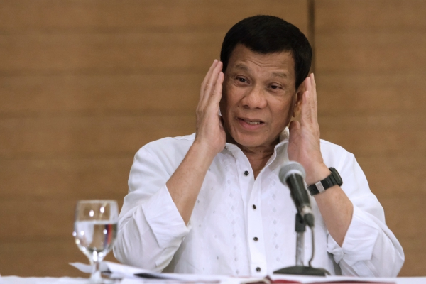 February 9 press conference by Phillippine President Rodrigo Duterte who said he was not concerned by the ICC preliminary examination