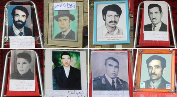 Photos of some of the victims of enforced disappearances in Afghanistan following the communist coup of 1978.