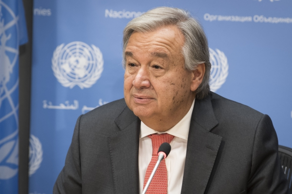 "António Guterres : ""I call on the Myanmar authorities to suspend military action, end the violence, uphold the rule of law"""