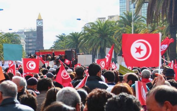 Manifestation à Tunis janvier 2012