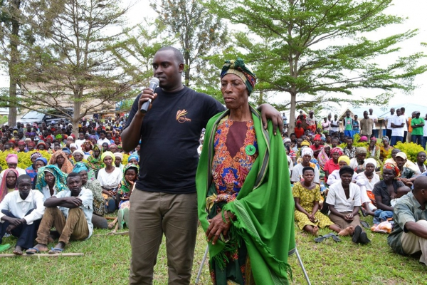 Roza Mukarurinda, honoured for saving a Tutsi baby during the genocide