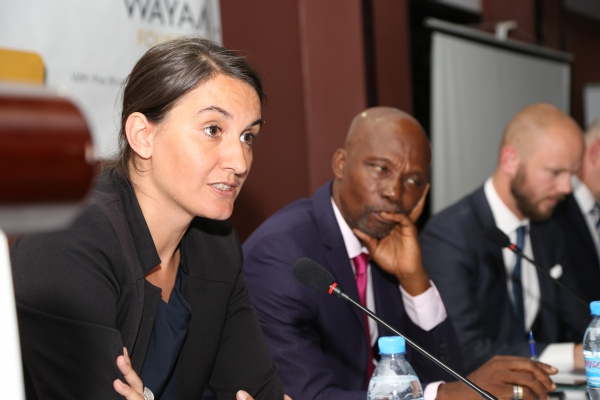 Emmanuelle Marchand speaking on June 7, 2017 at a symposium organized by Wayamo Foundation in Arusha, Tanzania