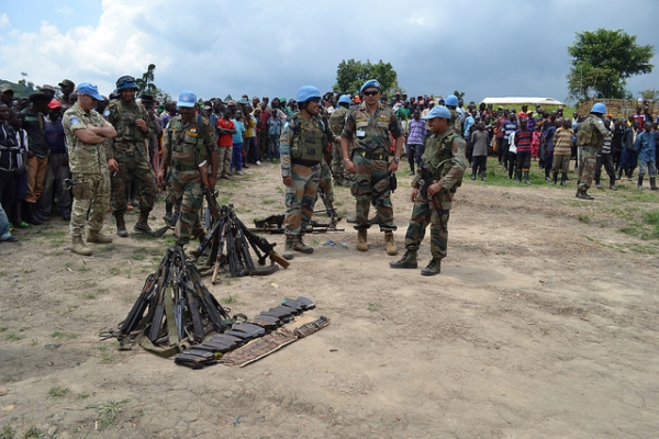 Voluntary surrender and disarmament ceremony of former FDLR combatants on December 28, 2014 in Buleusa Village, North Kivu, DRC