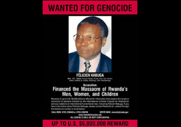 Poster offering US reward for Kabuga's capture