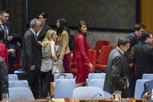 US delegation at the UN Security Council Meeting