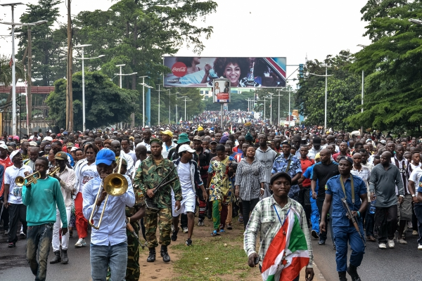 Thousands of Burundians on October 28, 2017 answered the government's call to celebrate the country's withdrawal from the International Criminal Court