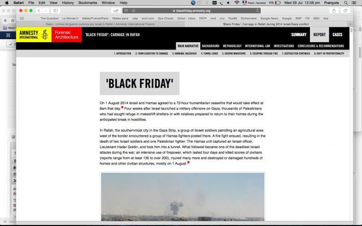 'Strong evidence' of Israel war crimes on 'Black Friday': Amnesty