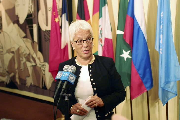 Carla Del Ponte blasts impunity in farewell speech