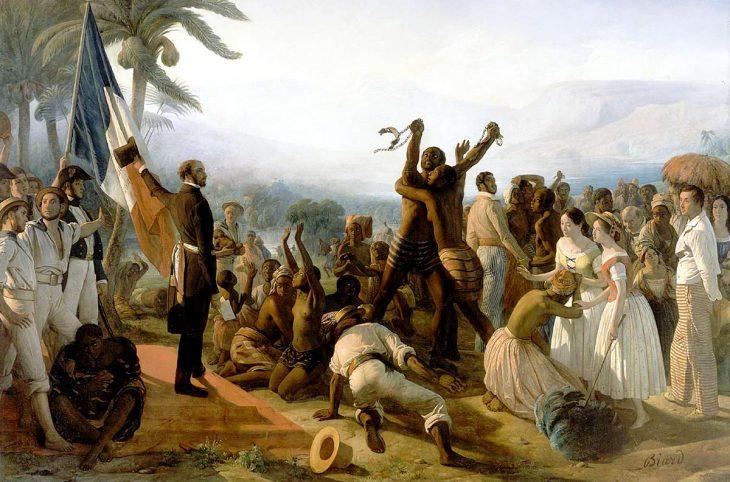 L'abolition de l'esclavage dans les colonies françaises (peinture de 1948)