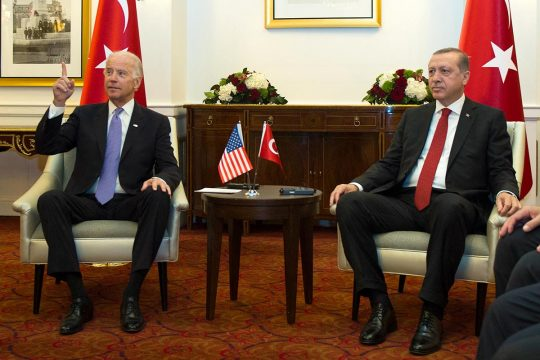 Joe Biden and Recep Tayyip Erdogan