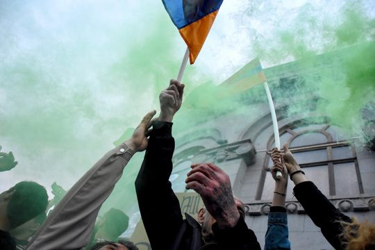 Des Arméniens manifestent pour la démocratie en 2018
