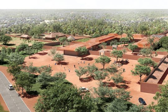 3D aerial view of the future musuem of Abomey, in Benin