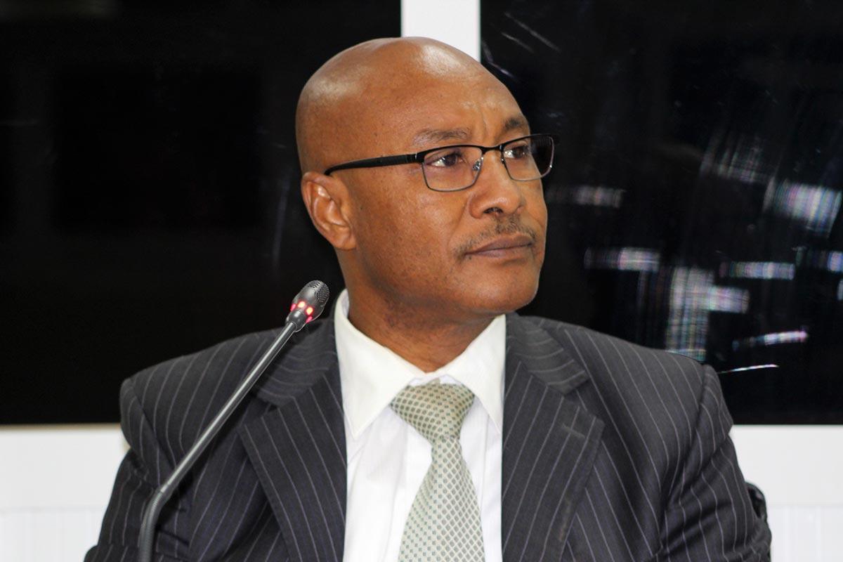 Momodou Hydara testifies before the TRRC in Gambia