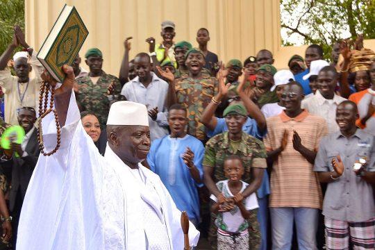 Yahyah Jammeh le 22 juillet 2016 (Gambie)