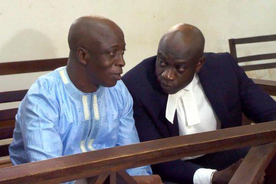 Yankuba Touray (with his lawyer in the picture) sentenced to death in Gambia