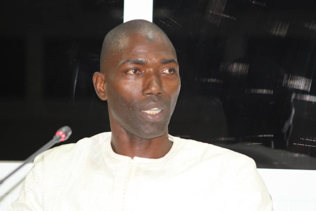Basiru Sey testifies before the Truth Commission (TRRC) in Gambia.