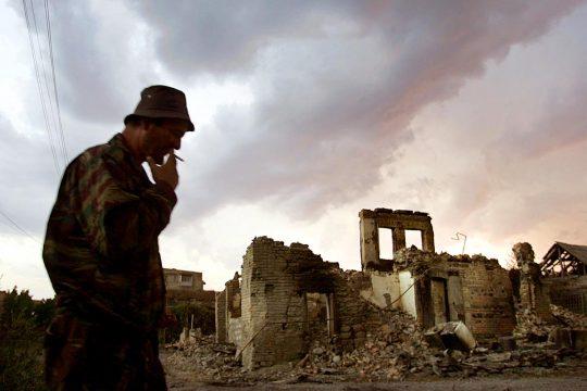 Décombre de guerre à Tskhinvali (Ossétie du Sud / Géorgie)