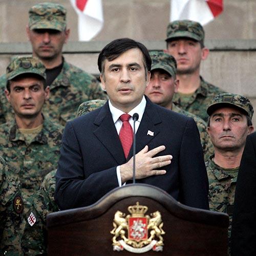 Le président géorgien Mikheil Saakachivili
