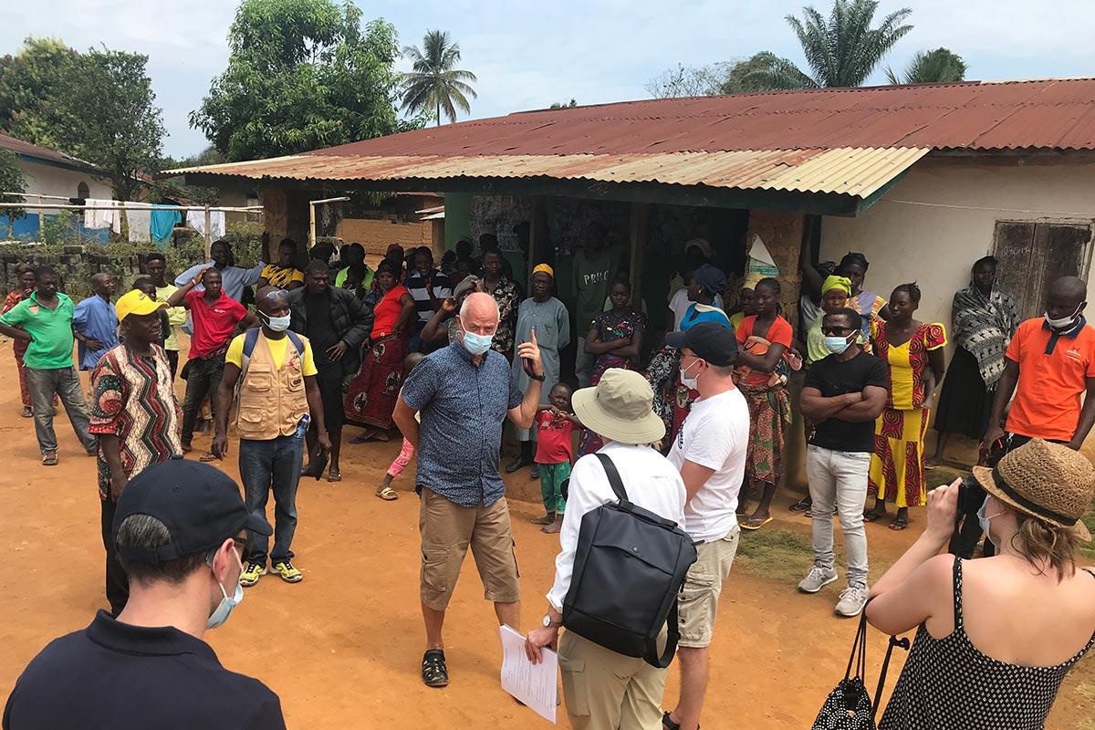 Thomas Elfgren in Kamatahun (Liberia)