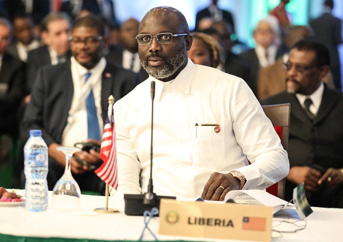 George Weah, président du Liberia