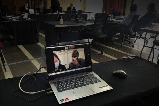 Salle d'audience du procès Massaquoi (Liberia)
