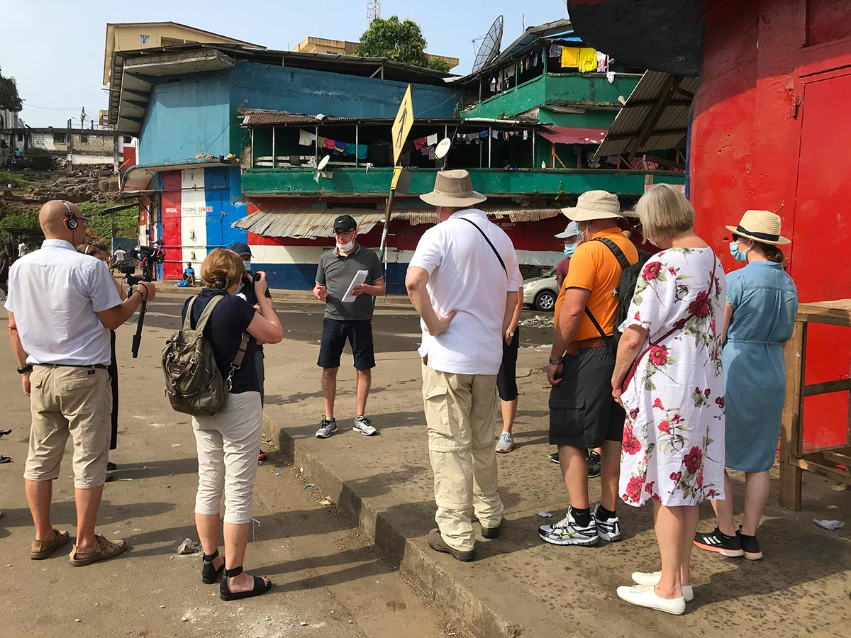 Finnish court visits Waterside district in Monrovia (Liberia)