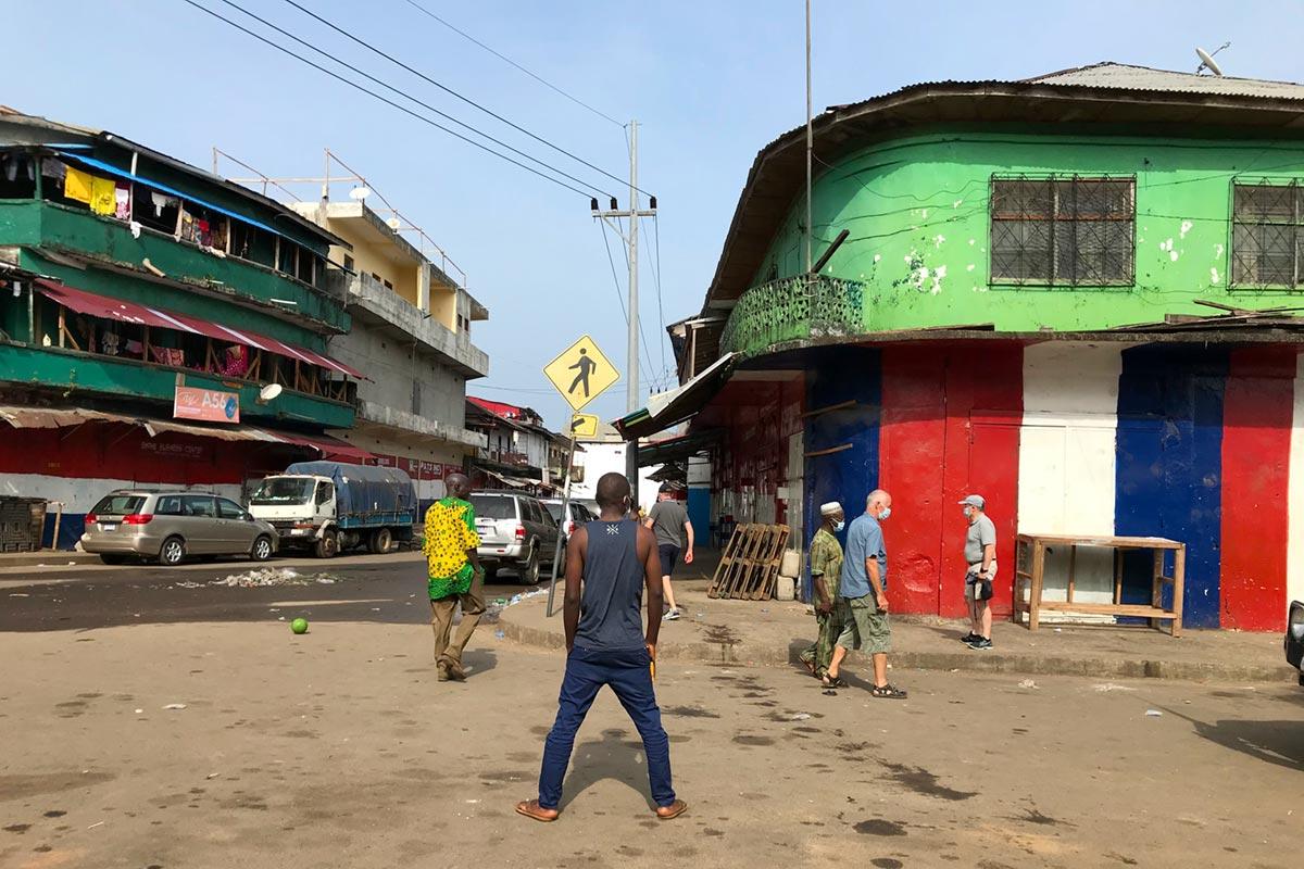 Quartier de Waterside, à Monrovia (Liberia)