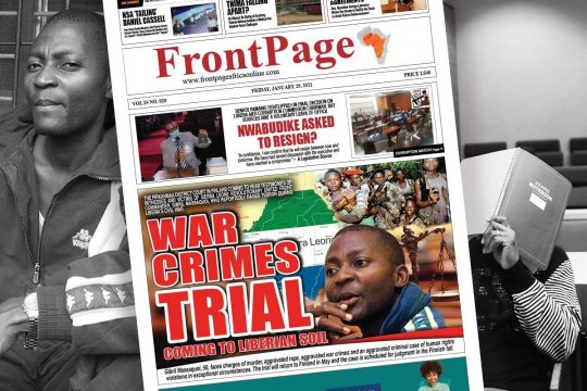 Massaquoi's trial (Frontpage Africa newspaper)