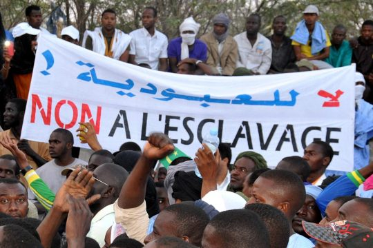 Demonstration in Mauritania to demand the end of slavery