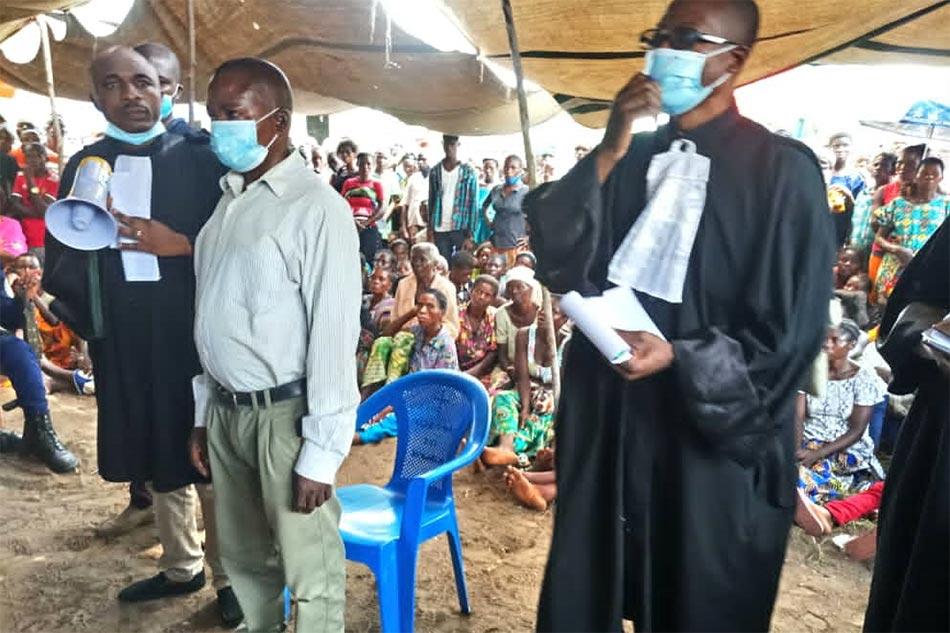 Laurent Nsumbu attends his trial in Kasai province, Democratic Republic of Congo