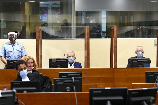Stanisic and Simatovic at the UN tribunal for the former Yugoslavia in The Hague