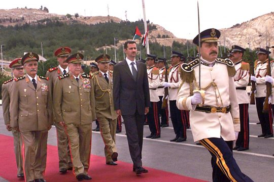 Military parade in the presence of Bashar al-Assad