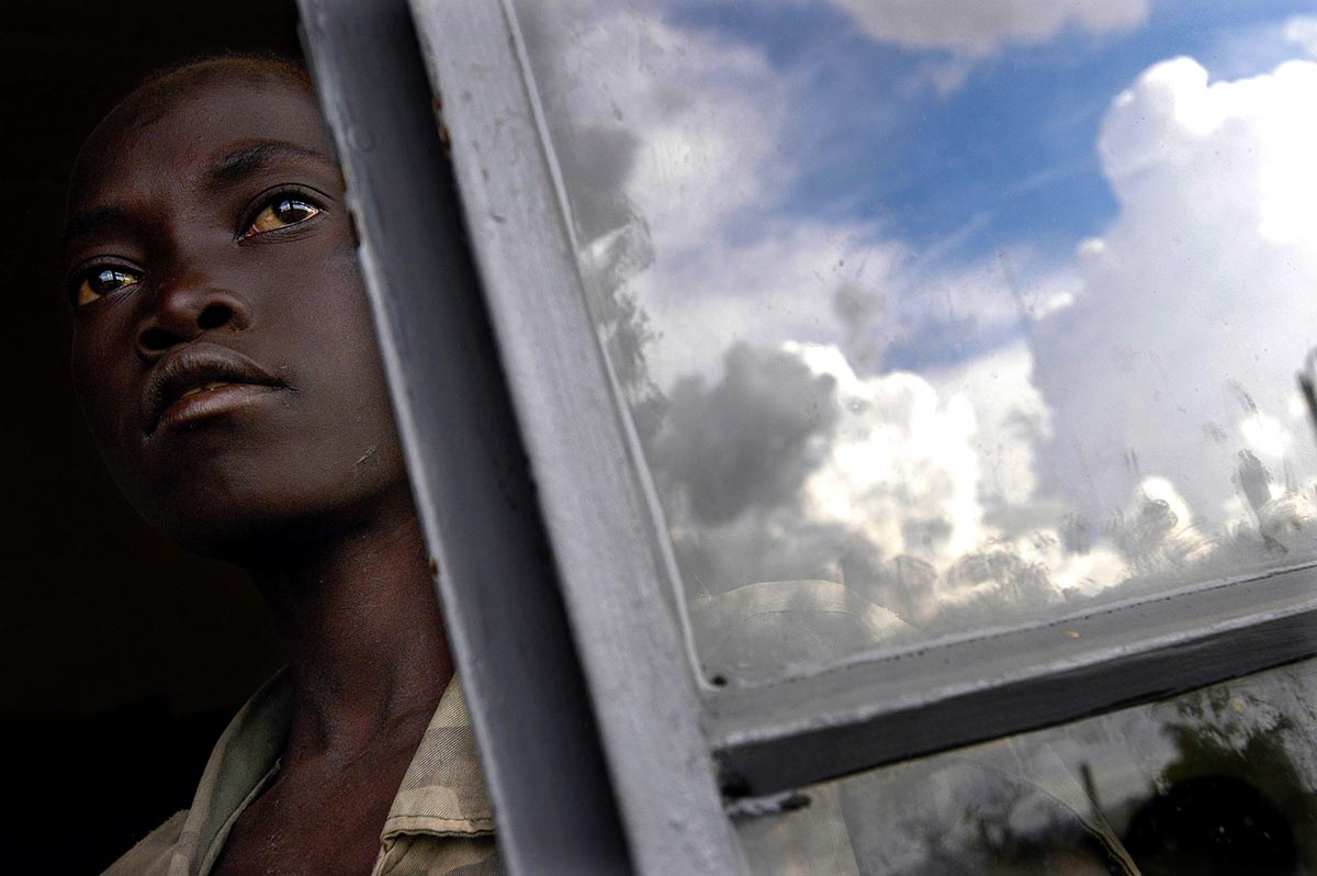 A former child soldier of the Lord's Resistance Army (LRA) in Uganda