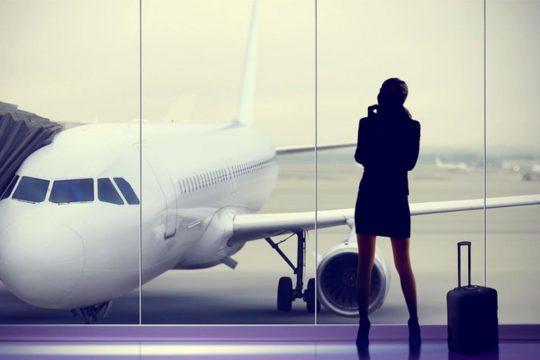 Women in an airport