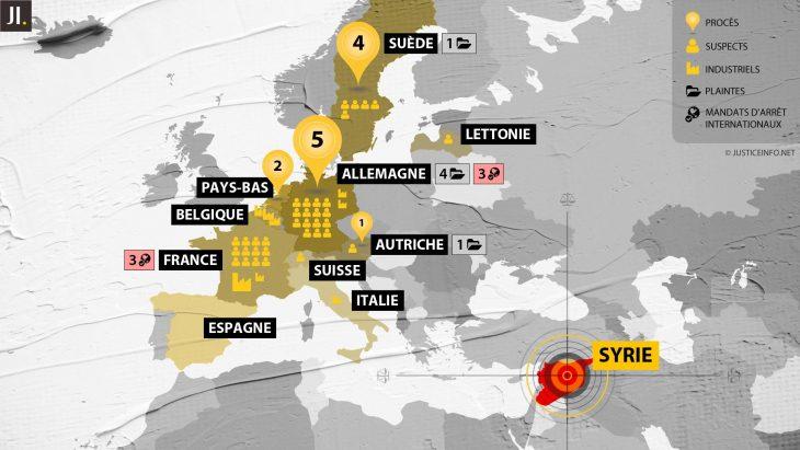 Les justices européennes face aux crimes en Syrie